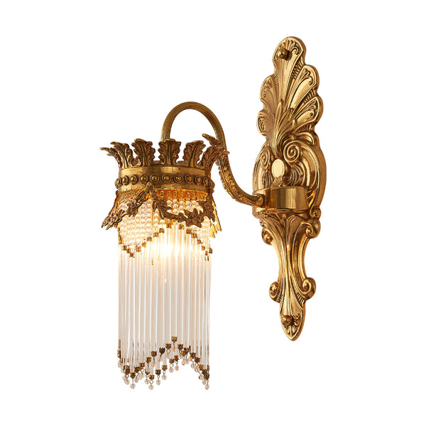 gilt bronze french sconce with crystal lampshades -  westmenlights