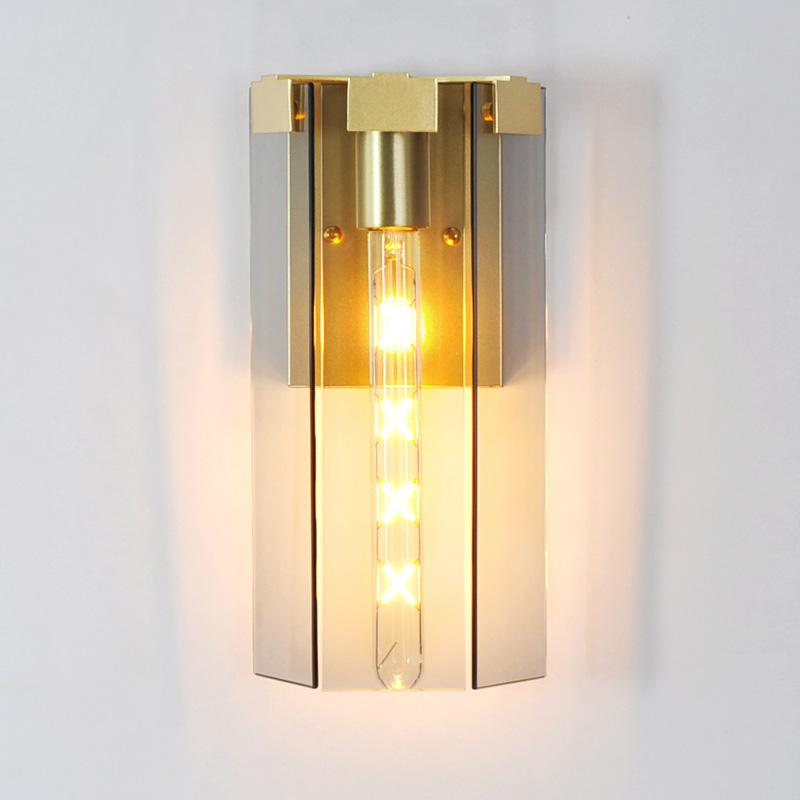 golden sconce with glass shade -  westmenlights