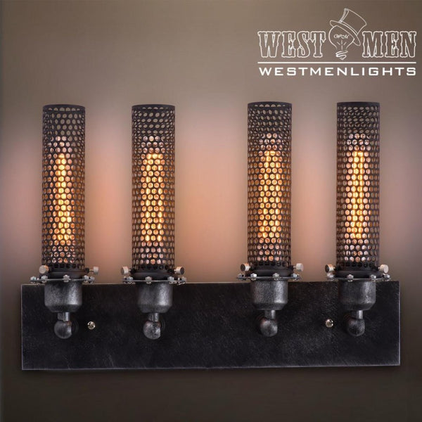 Grid 4 Lights Vanity Lighting Wall Sconce -  westmenlights