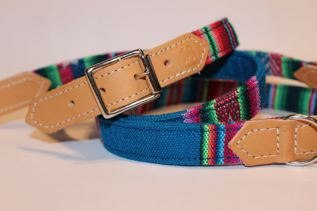 Hiro & Wolf Collar & Lead - Inca Blue