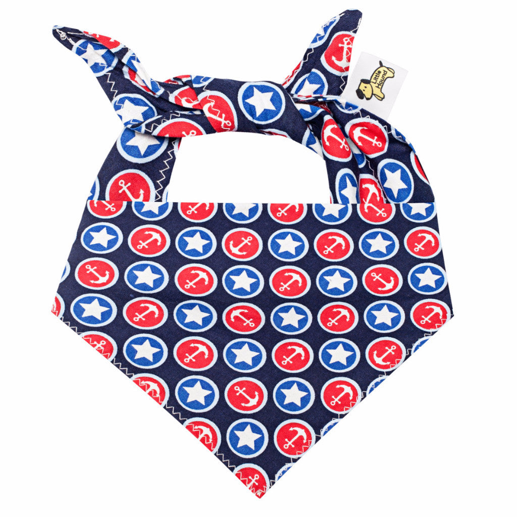 Little Hound Dog Bandana - Anchors