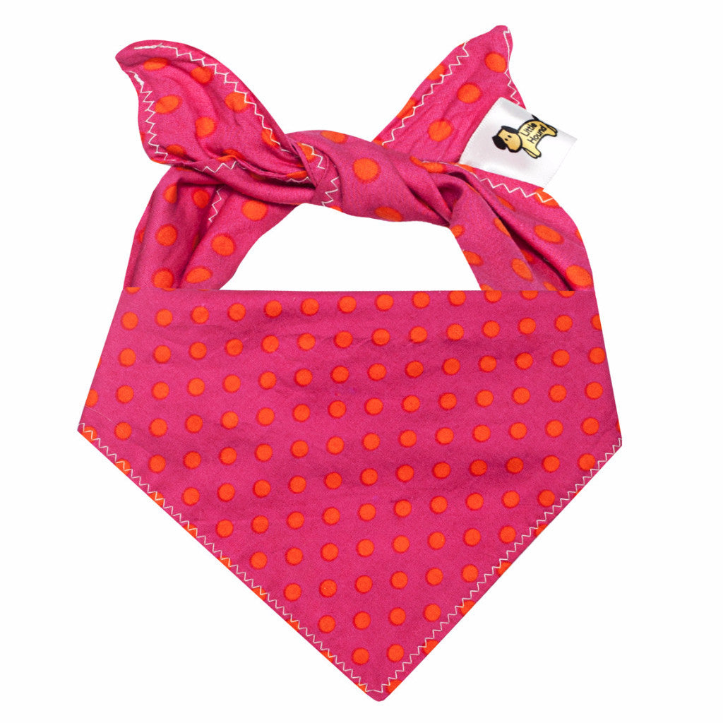 Little Hound Dog Bandana - Hot Pink