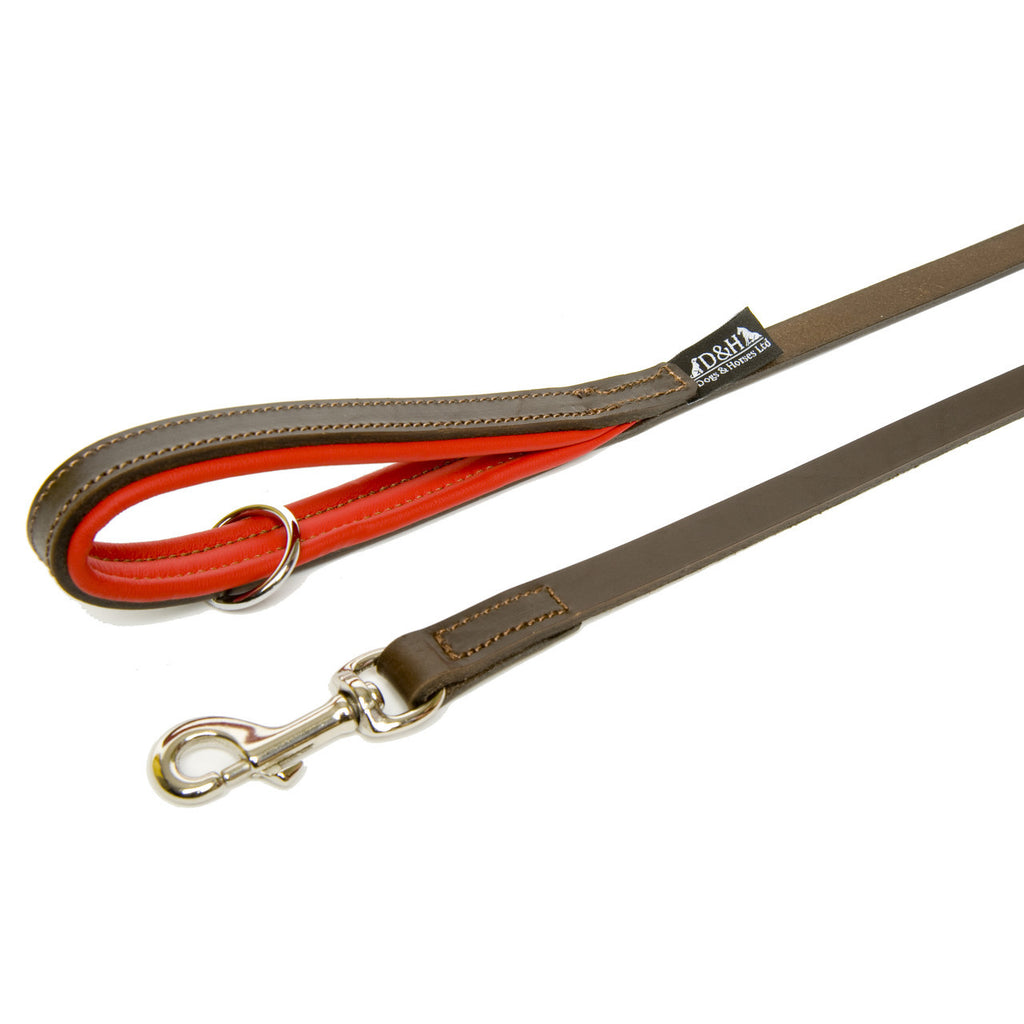 Dogs & Horses Contemporary Leather Lead - Brown & Red