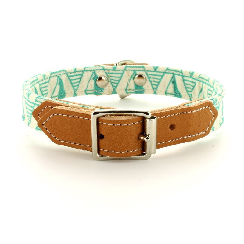 Hiro & Wolf Collar - Green Geo