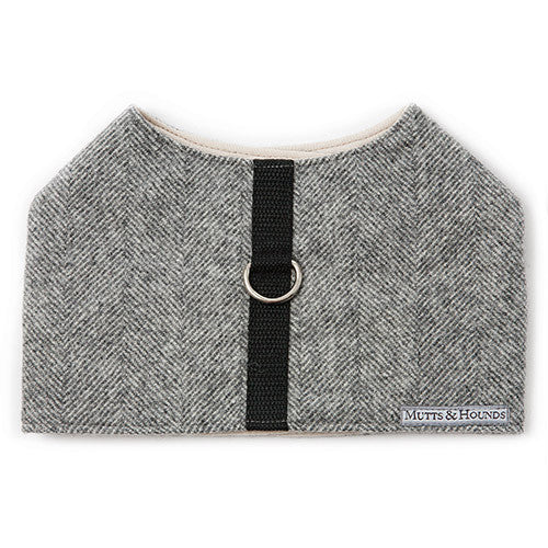 Mutts & Hounds Tweed Soft Harness - Stoneham Grey