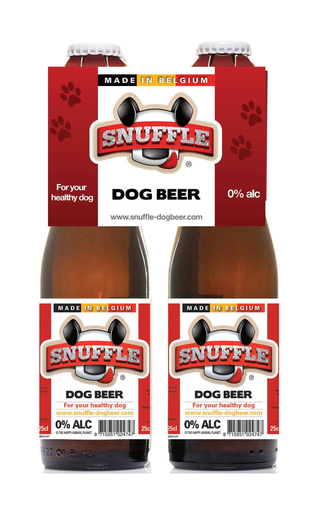 Snuffle Dog Beer 4-Pack Beef & Chicken