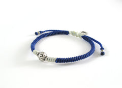 Unisex friendship bracelet - spacial made silver bead woven bracelet design - 3