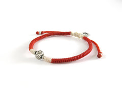 Unisex friendship bracelet - spacial made silver bead woven bracelet design - 4