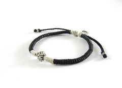 Unisex friendship bracelet - spacial made silver bead woven bracelet design - 5