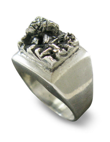 volcan silver ring