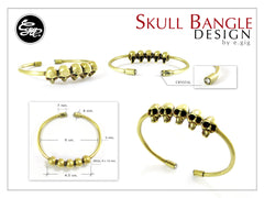 Skull Bangle - Handmade jewelry by e.gig - 2