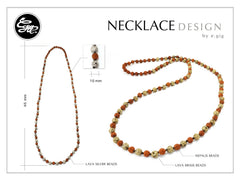 Handmade bead necklace