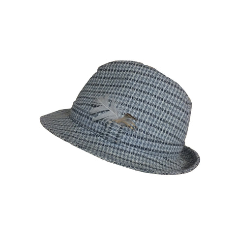 Beaver of Bolton Hats Dogtooth Trilby Hat [product_tags] - Stuarts Outdoor