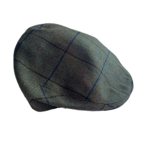 Beaver Countrywear Hats Blue Check Tweed Flat Cap [product_tags] - Stuarts Outdoor