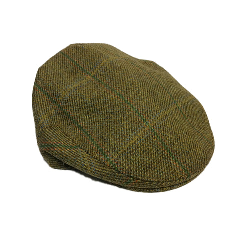 c95cf5828ab Beaver Countrywear Hats Olive Check Tweed Flat Cap  product tags  - Stuarts  Outdoor