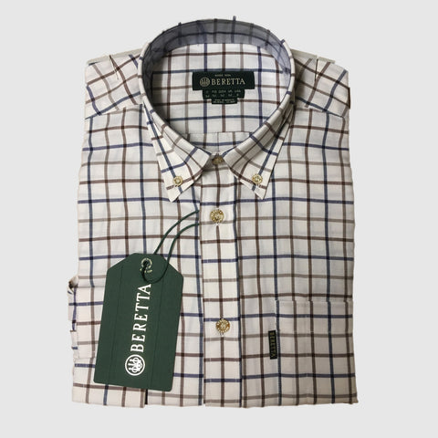 Beretta Men's Shirts Classic Long Sleeve Checked Shirt [product_tags] - Stuarts Outdoor