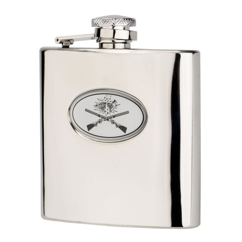 Bisley Hip Flask 6oz Cross Guns Hip Flask in a Presentation Box [product_tags] - Stuarts Outdoor