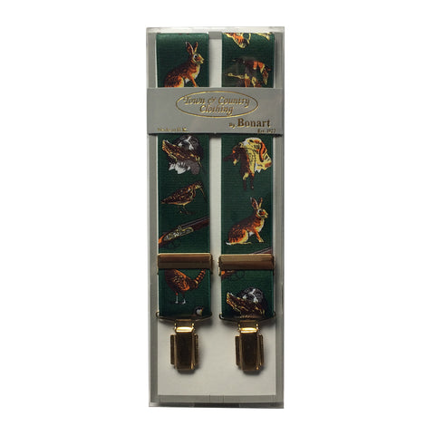 Bonart Braces Green Gun Patterned Braces [product_tags] - Stuarts Outdoor