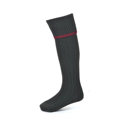 House of Cheviot Men's Socks Estate Field  Sock - Dark Loden [product_tags] - Stuarts Outdoor
