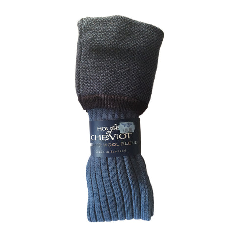 House of Cheviot Men's Socks Two Tone Shooting Sock -Blue [product_tags] - Stuarts Outdoor
