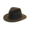 Hoggs of Fife Hats Waxed Indiana Wide Brim Cotton Hat - Khaki Green [product_tags] - Stuarts Outdoor