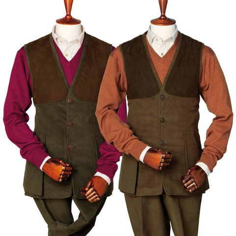Laksen Men's Waistcoat Broadland Men's Moleskin Shooting Vest [product_tags] - Stuarts Outdoor