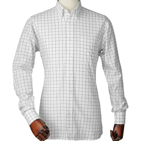 Laksen Men's Shirts Arthur Pin Point Oxford Check Shirt [product_tags] - Stuarts Outdoor