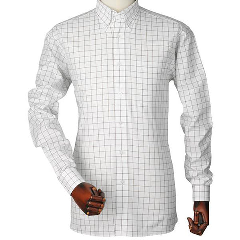 Laksen Men's Shirts Joseph Pin Point Oxford Check Shirt [product_tags] - Stuarts Outdoor