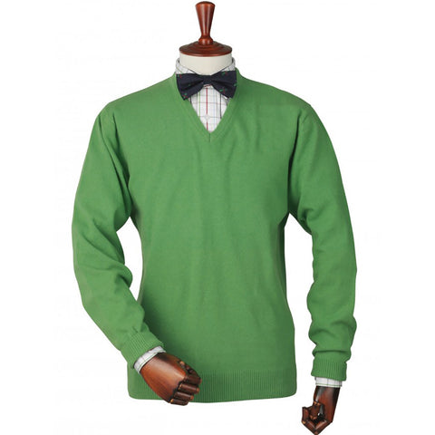 Laksen Men's Knitwear Yellowstone Men's V-Neck Knitwear Shooting Sweater [product_tags] - Stuarts Outdoor