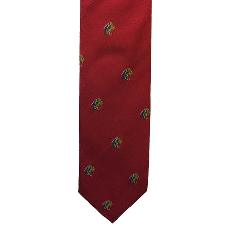 Le Chameau Ties Fishing Fly Motif Silk Tie [product_tags] - Stuarts Outdoor
