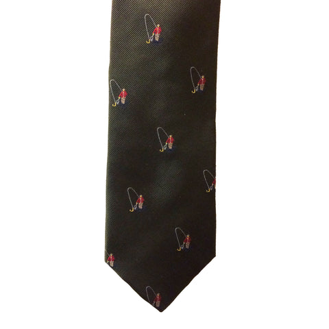 Le Chameau Ties Fly Fisherman Motif Silk Tie [product_tags] - Stuarts Outdoor
