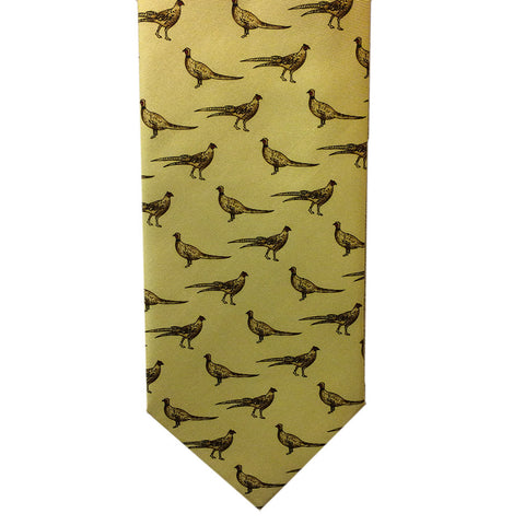The Tie Studio Ties Pheasant Motif Silk Tie [product_tags] - Stuarts Outdoor