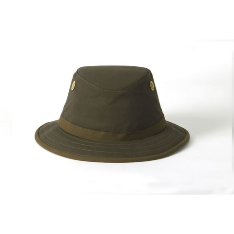 Outback Cotton Hat Medium Brim Olive - TWC7