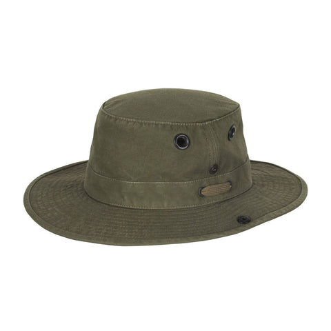 "Tilley Hats Wanderer - ""Cotton Duck"" Medium Brimmed Hat - Olive [product_tags] - Stuarts Outdoor"