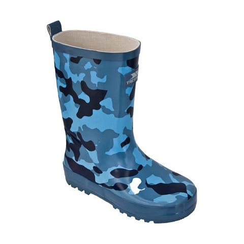 Trespass Children's Boots Action Boy Children's Blue Camo Wellies [product_tags] - Stuarts Outdoor