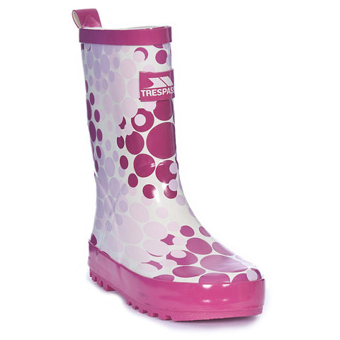 Trespass Children's Boots Angel Girls Children's Pink Wellies [product_tags] - Stuarts Outdoor