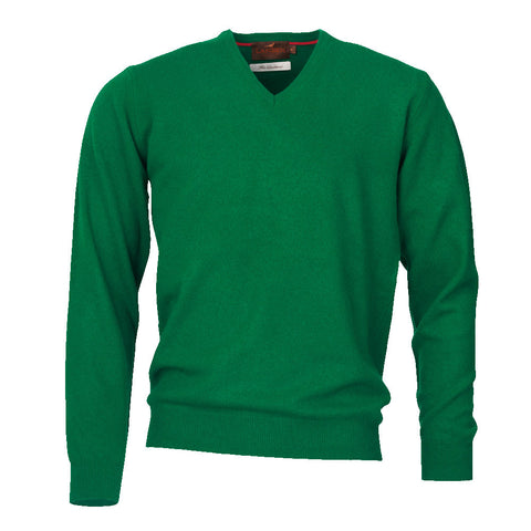 Laksen Men's Knitwear Yates Italian Lambswool V-Neck Sweaters [product_tags] - Stuarts Outdoor