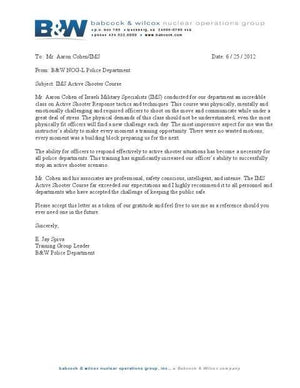 Nuclear Special Operations Group Letter Of Recommendation