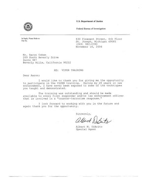 FBI Letter Of Recommendation