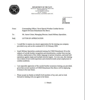 Navy SEALs Letter Of Recommendation