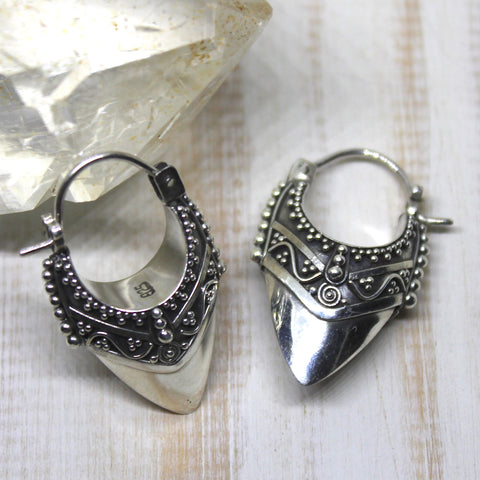 925 Silver Balinese Warrior Earrings