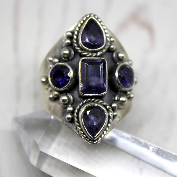 Sterling Silver and Iolite Ring