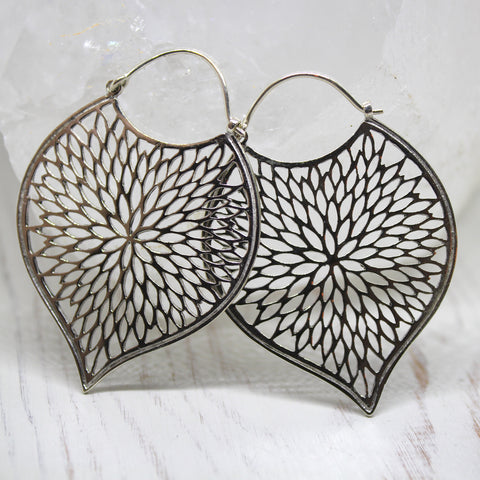 Handmade Sterling Silver 'Bindhiya' Earrings from Rajasthan