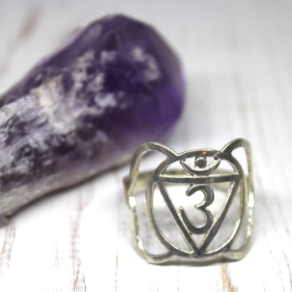 Third Eye Chakra Sterling Silver Ring