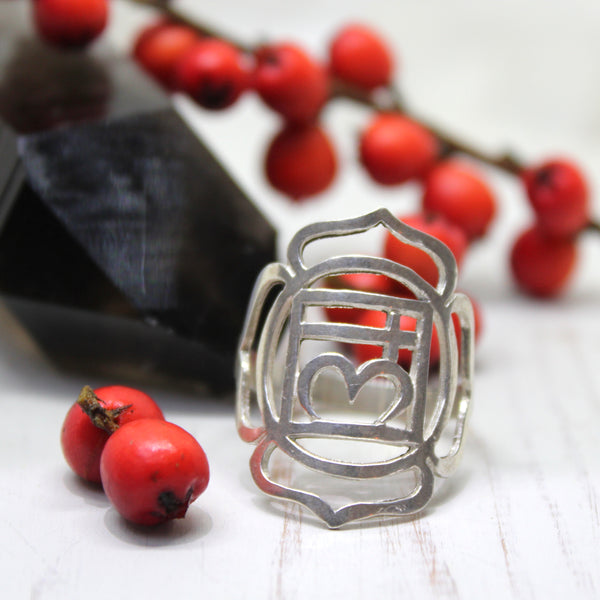 Root Chakra Sterling Silver Ring