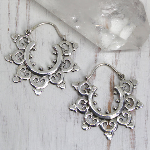 925 Silver 'Prafula' Earrings