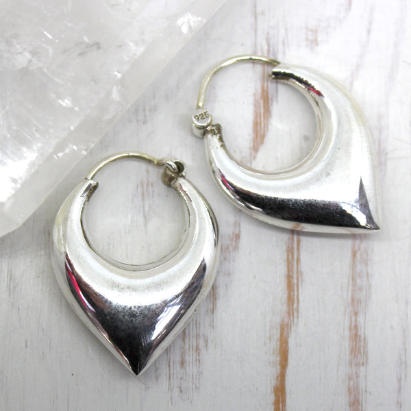 925 Silver 'Bimala' Puff Drop earrings
