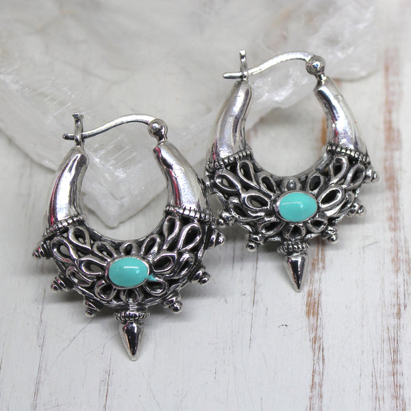 925 Silver 'Firoza' Earrings