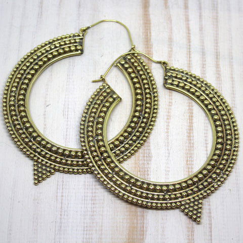 Handmade Brass 'Akhila' Earrings