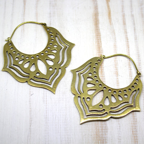 Handmade Brass 'Jarul' Earrings